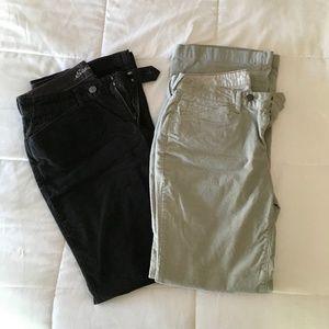 Lot of 2 pair Eddie Bauer corduroy pants